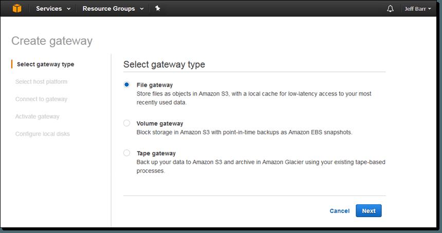 File Interface to AWS Storage Gateway | M-SQUARE