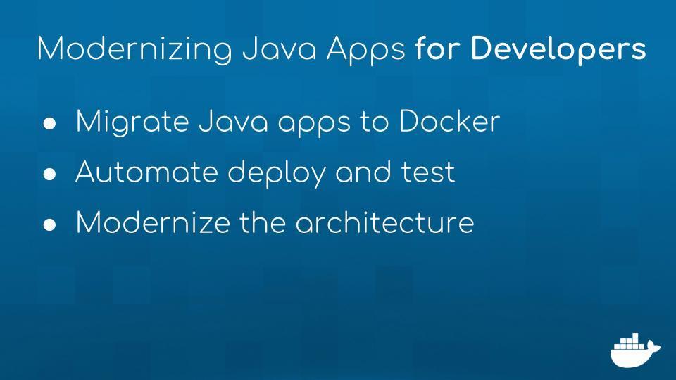 Modernizing Java Apps