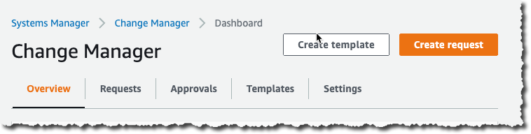 Change Manager Create Template