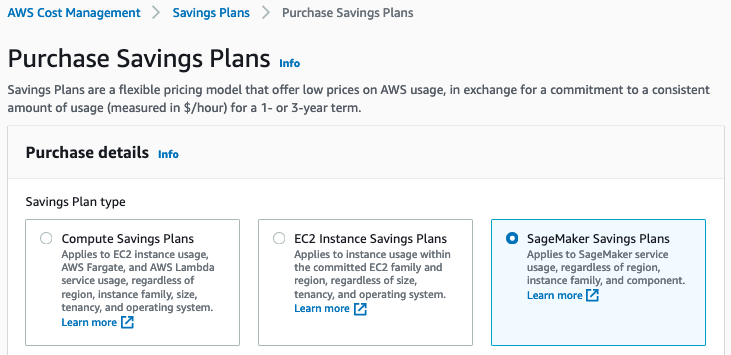SageMaker Savings Plan