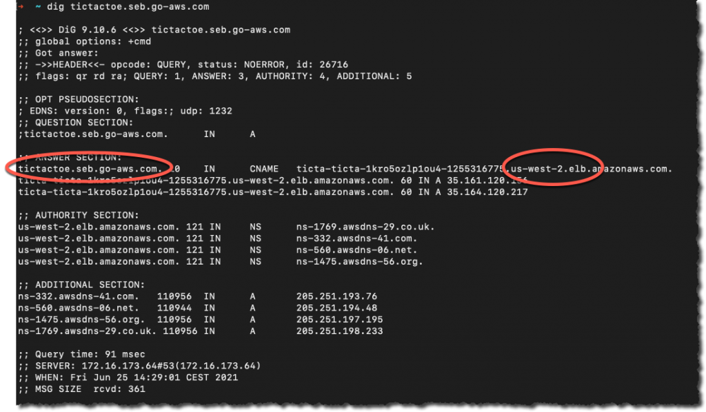 DNS checked after a routing control state change