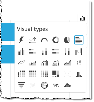 Select a new visual type.